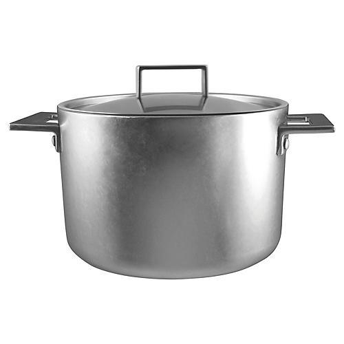Attiva Stock Pot w/Lid, Silver