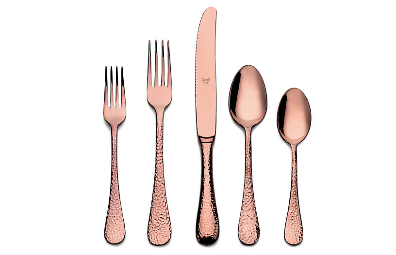 5-Pc Epoque Place Setting, Bronze