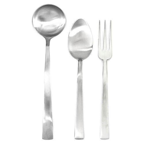 Asst. of 3 Levantina Serving Set, Silver