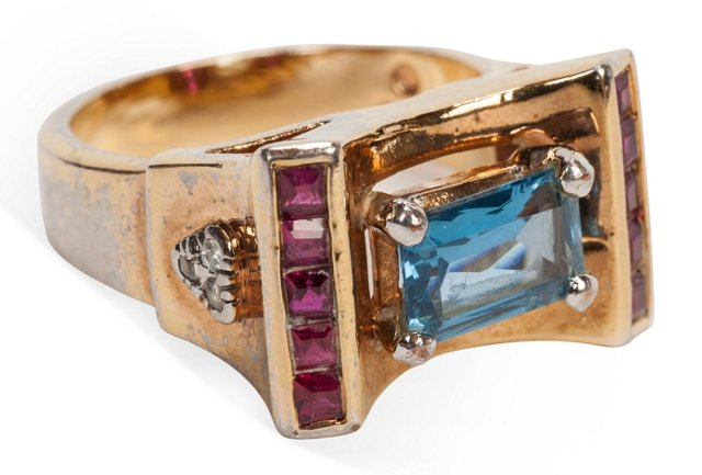 Sterling Patriotic Ring