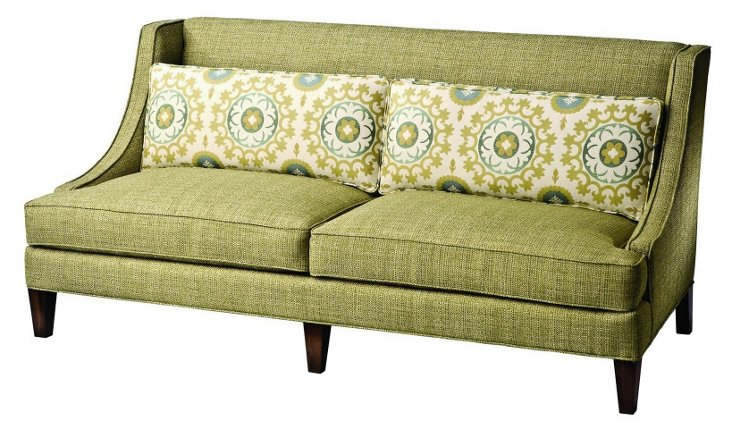 "Lora 81"" Swoop-Arm Sofa, Lime"