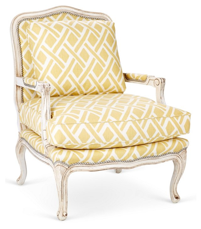 Harper Bergère, Lemon/White Lattice