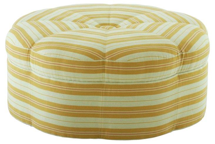 Saroya Round Ottoman, Mustard