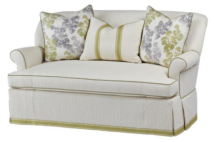 """Michelle 70"""" Sofa, Cream/Olive"""