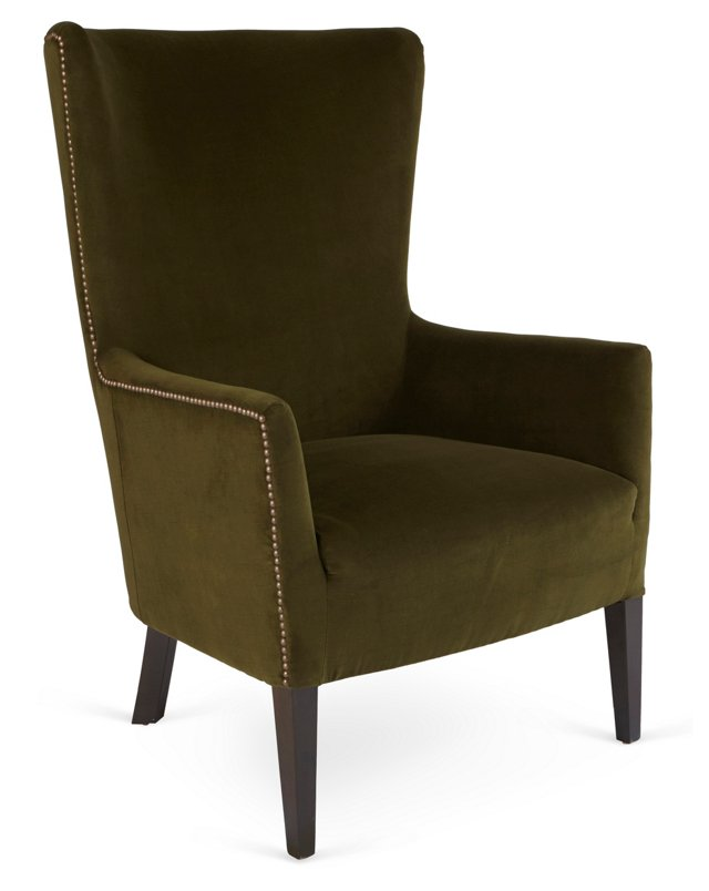 Ethan Wingback Chair, Forest
