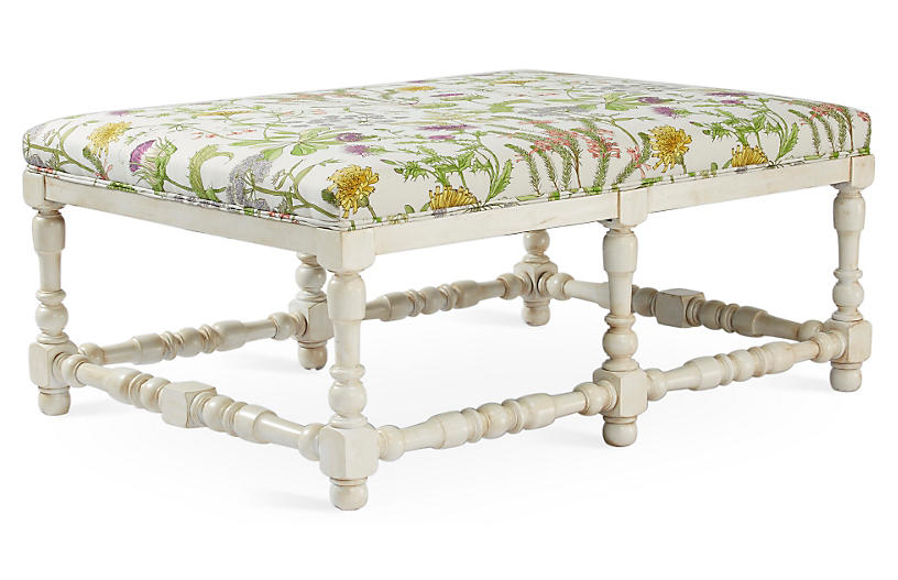 Eva Cocktail Ottoman - Wild Oasis - Massoud Furniture