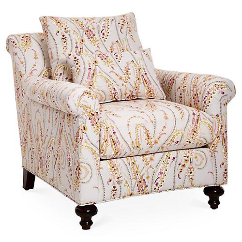 Emmet Club Chair, Pink Videira