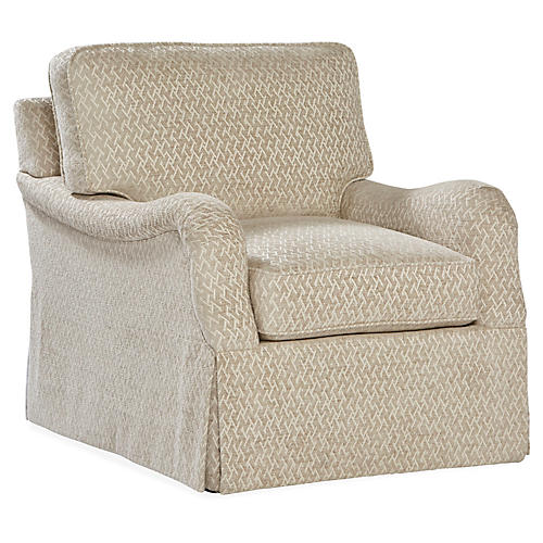 Fuller Swivel Chair, Oatmeal