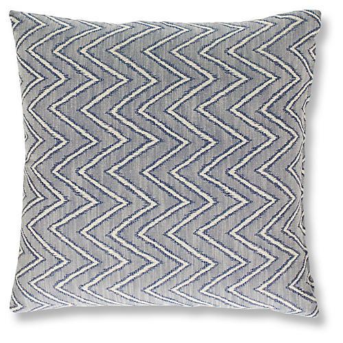 Carib 19x19 Pillow, Indigo
