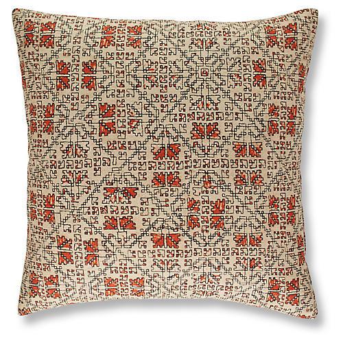 Tripp 19x19 Pillow, Flame
