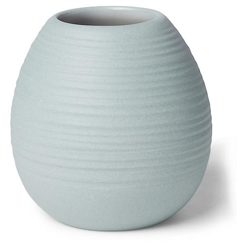 "3"" Ribbed Bud Vase, Gray"