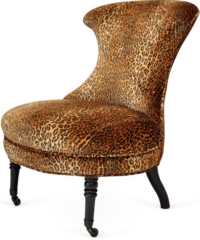 Victorian Leopard Slipper Chair