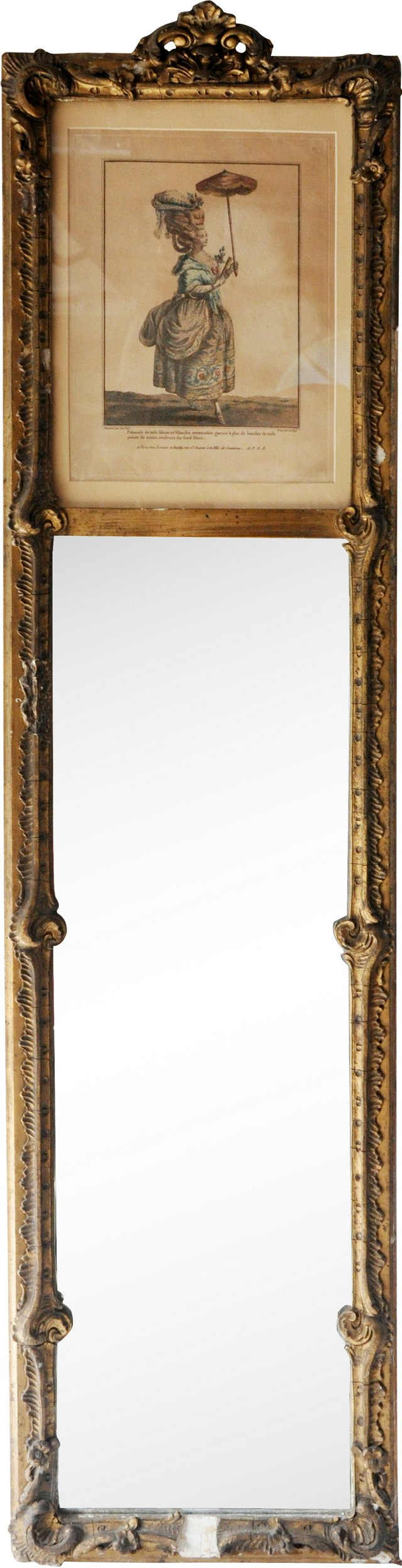 Early-20th-C.Trumeau Mirror