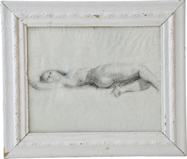Signed Nude Sketch