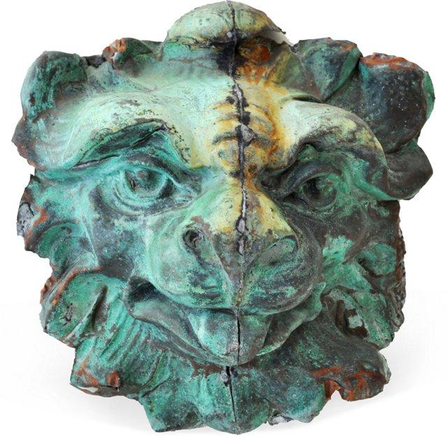 Copper Lion's Head