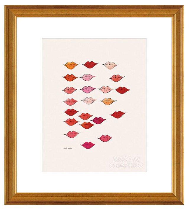 Warhol, Stamped Lips, c. 1959