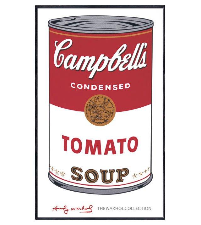 Warhol, Campbell's Soup I:  Tomato, 1968