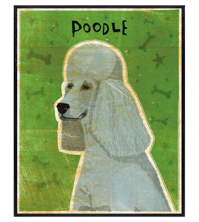 Gray Poodle Art Block