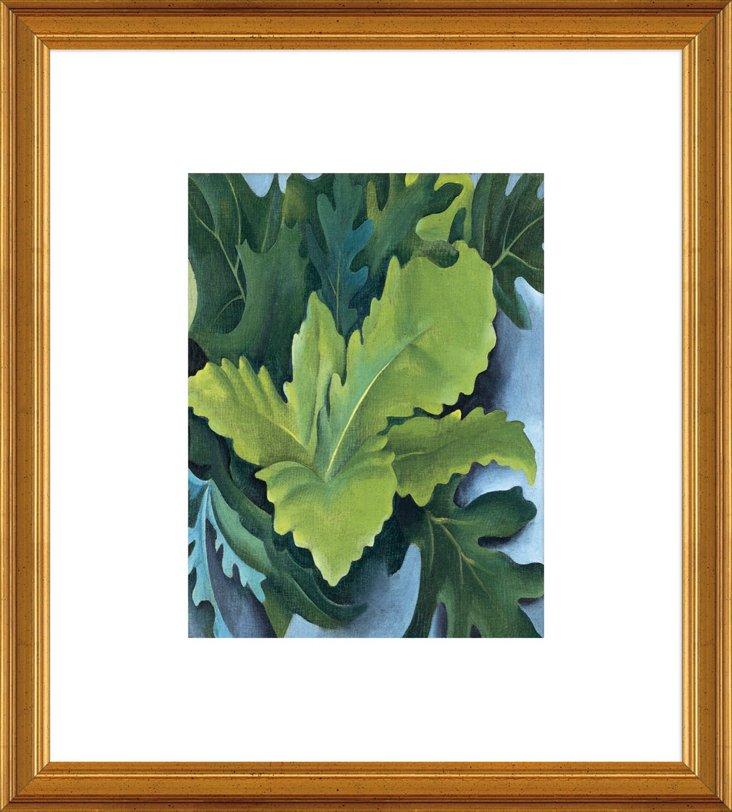 O'Keeffe, Green Oak Leaves, 1923