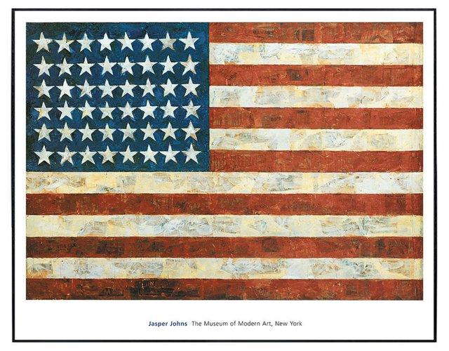 Jasper Johns, Flag, 1954