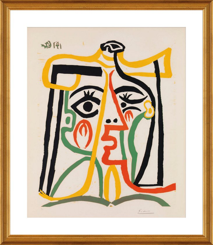 Picasso, Tête de Femme
