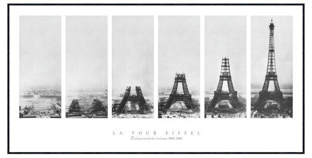 Vintage Photography, La Tour Eiffel