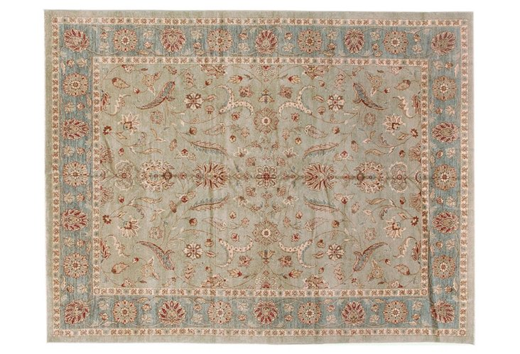 "9'3""x12' Sultanabad Rug, Sage"