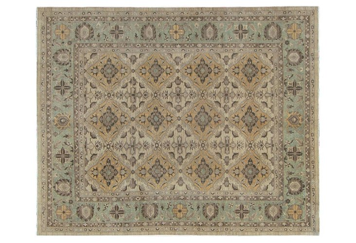8x10 Natural Dye Sultanabad Rug, Beige