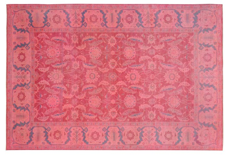 "9'6""x14'2"" Armagan Rug, Strawberry/Blue"