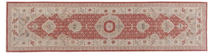 "3' x 12'5"" Anga Runner, Red/Beige"