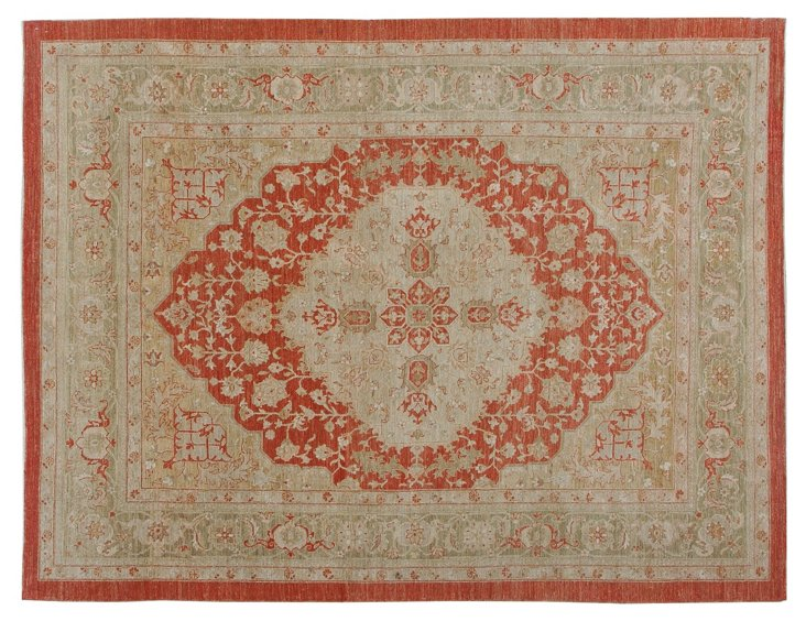 "8'3"" x 10'11"" Bhojpur Rug, Red/Green"
