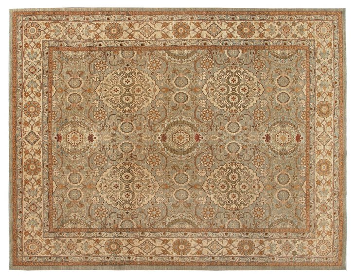 8'x10' Sultanabad Rug, Pale Sage