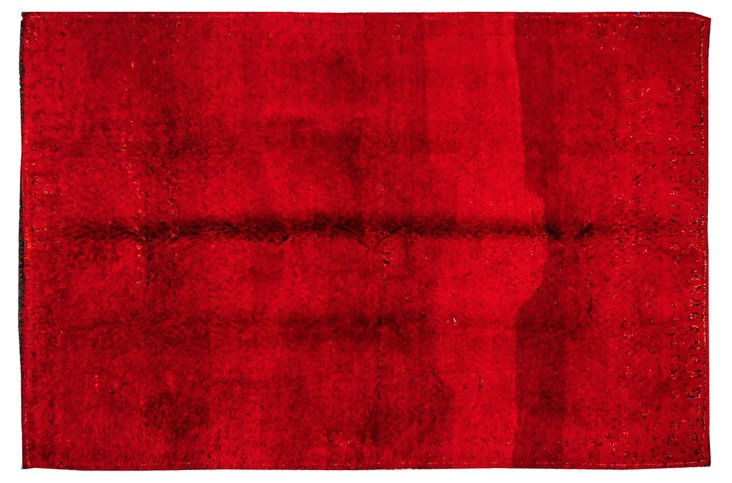 """5'11""""x8'11"""" Moroccan Rug, Red"""