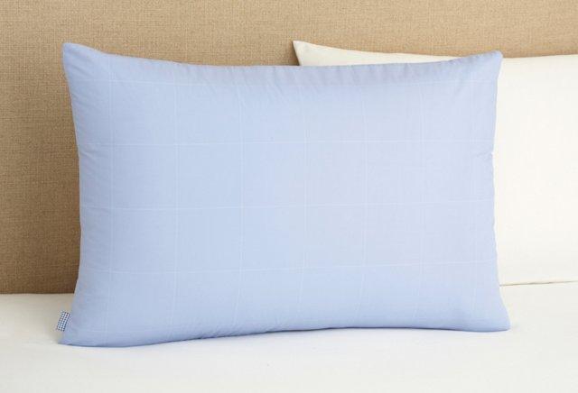 Format Check Pillowcase, Blue/White