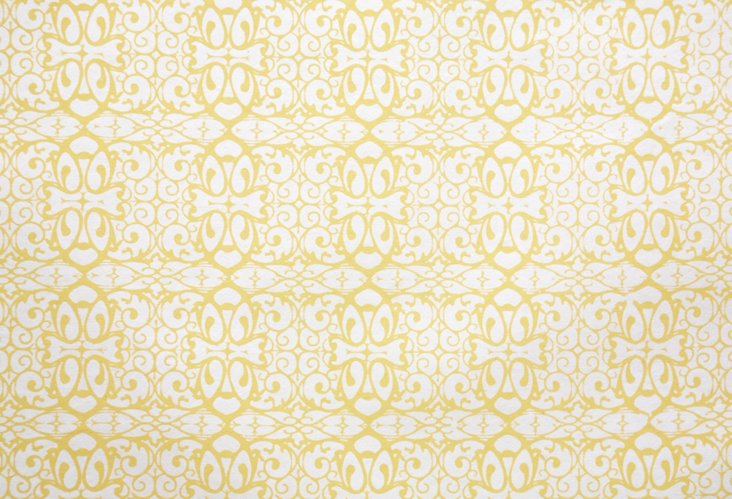 S/10 Handmade Gift Wrap, Yellow Lace