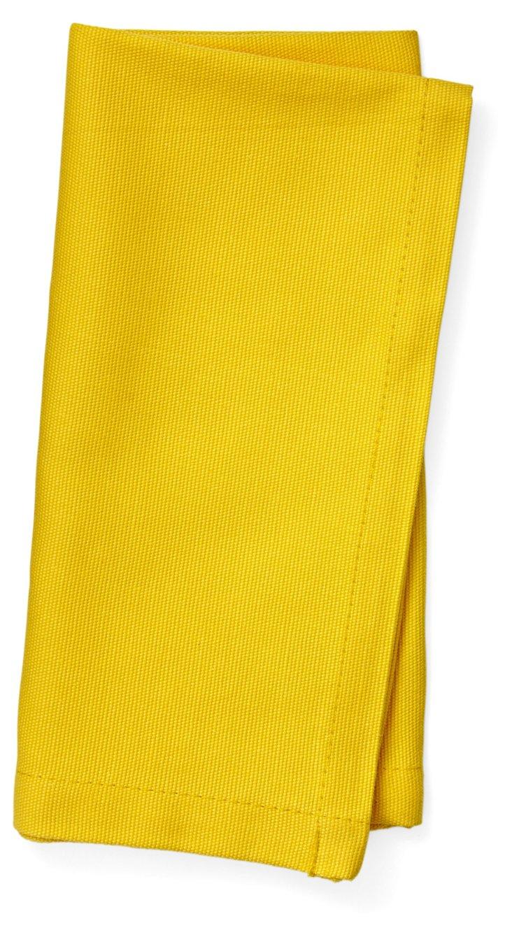 S/4 Yellow Cotton Napkins