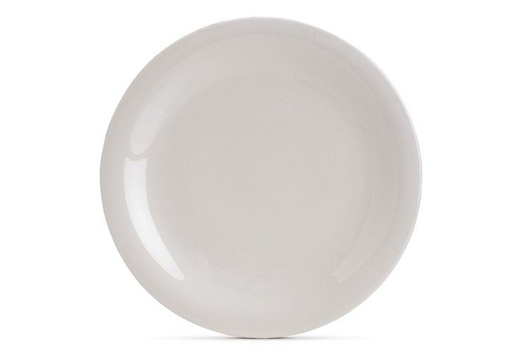 S/4 Sleek Dinner Plates, White
