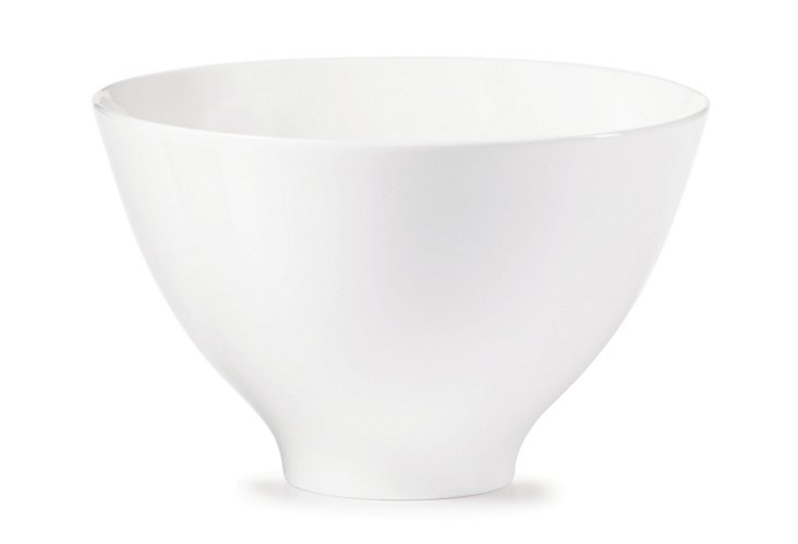 Sleek Vegetable Bowl, White