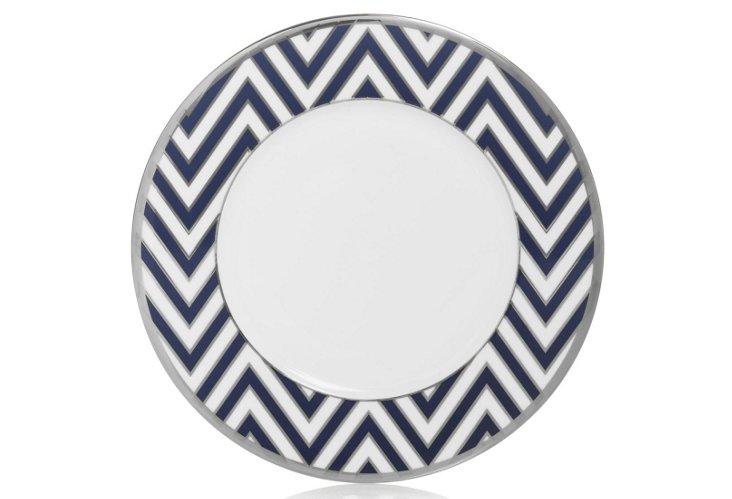 S/4 Zigzag Accent Plates, Blue