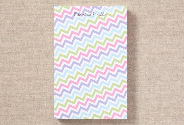 Custom Chunky Notepad, Bright Chevron
