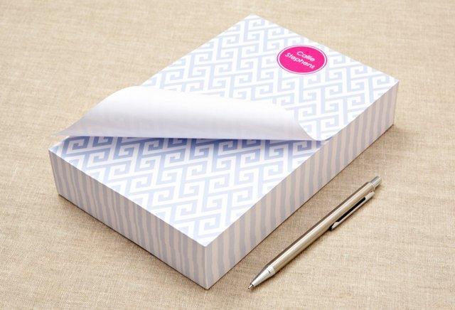 Custom Chunky Notepad, Blue Santorini