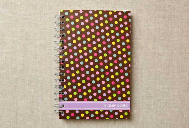 Custom Chunky Notebook, Wild About Dots