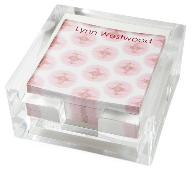 Petit Notes in Acrylic Box, Charme Pink