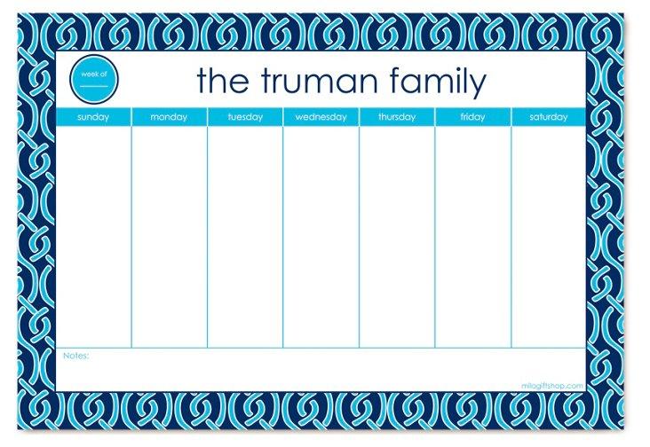 Custom Truman Weekly Blotter, Blue