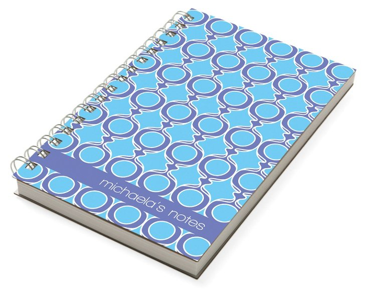 Custom Michaela Chunky Notebook, Blue