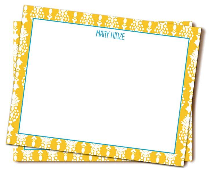 Custom Mira Flat Stationery, Yellow