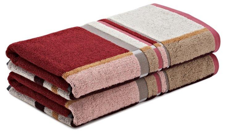 S/2 Mister Bath Towels