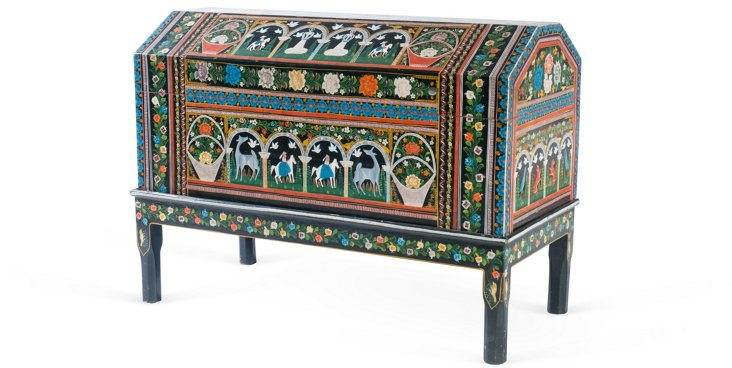 Vintage Mexican Chest on Stand