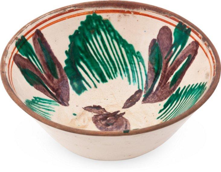 Vintage Glazed Bowl-Oaxaca