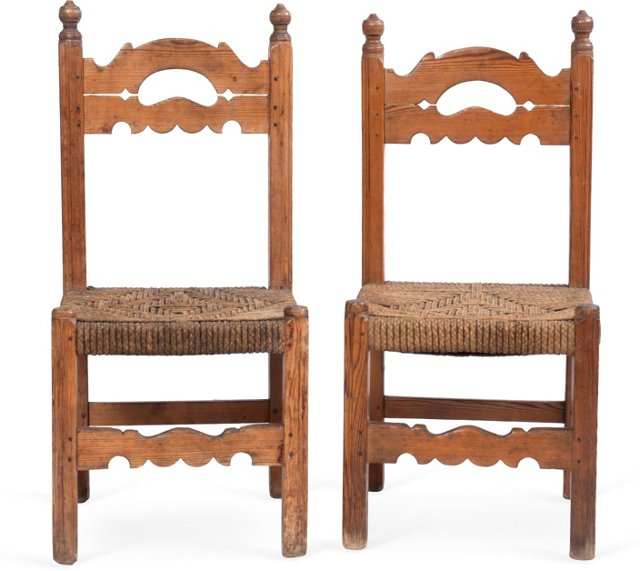 New Mexican Chairs, Pair